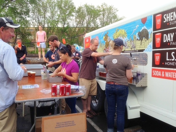 busy beer trailer