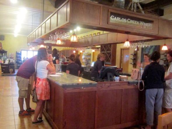 Carlos Creek Winery tasting room